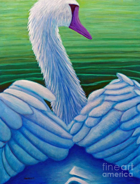 Wall Art - Painting - Parmahansa-the Supreme Swan by Brian  Commerford