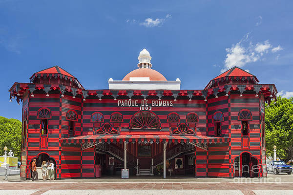 Photograph - Parque De Bombas Fire Station In Ponce Puerto Rico by Bryan Mullennix