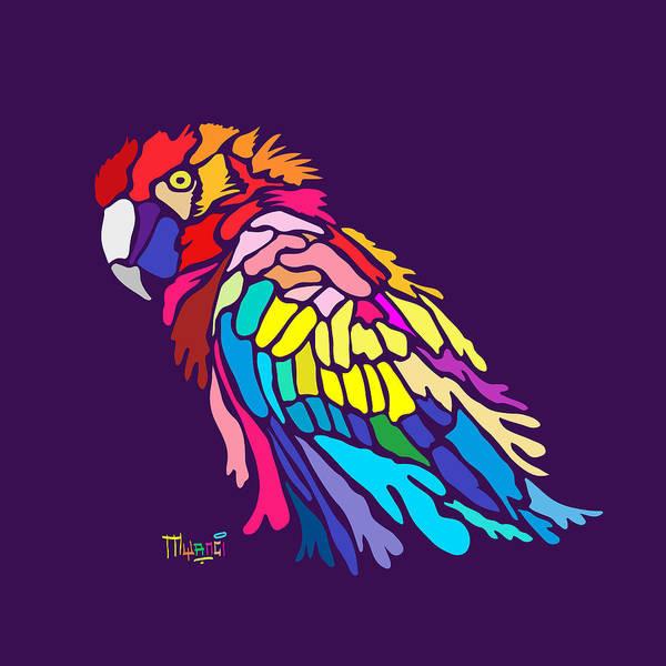 Purple Rain Digital Art - Parrot Beauty by Anthony Mwangi