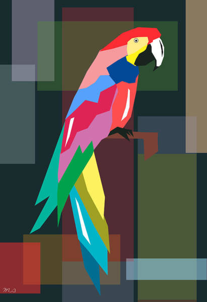 Parrot Digital Art - Parrot by Mark Ashkenazi