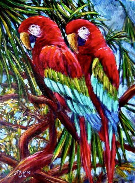 Painting - Parrot Pals by Sebastian Pierre