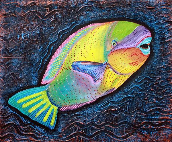 Wall Art - Painting - Parrotfish by Laura Barbosa