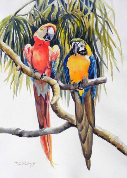 Painting - Parrots by Hilda Vandergriff