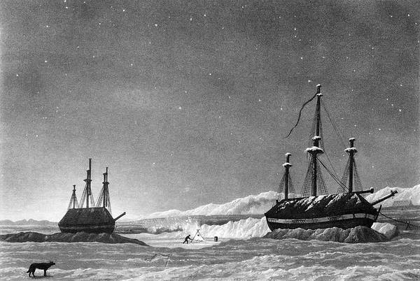 Melville Photograph - Parry's 1st Arctic Expedition by George Bernard/science Photo Library