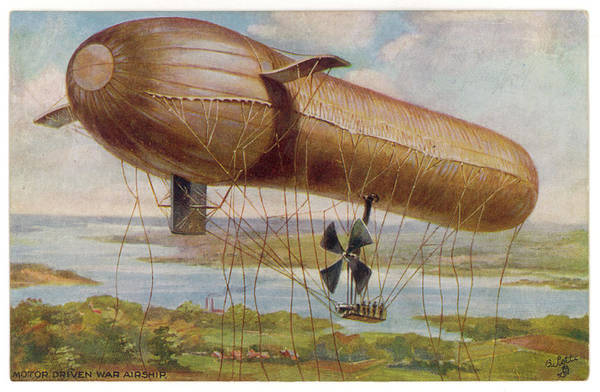 Wall Art - Drawing - 'parseval' Military Airship by Mary Evans Picture Library