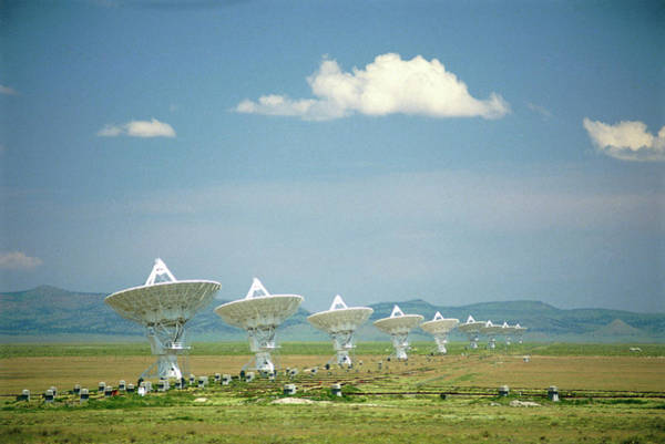 Very Large Array Photograph - Part Of The Very Large Array Radio Telescope by David Parker/science Photo Library
