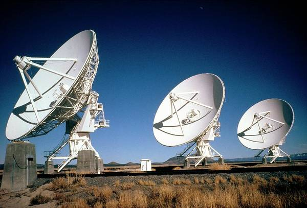 Very Large Array Photograph - Part Of The Very Large Array Radio Telescope by Dr David Roberts/science Photo Library