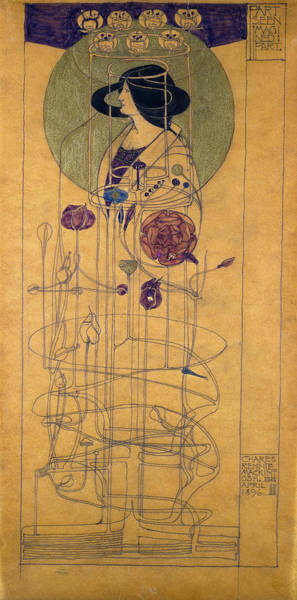 Wall Art - Painting - Part Seen, Imagined Part, 1896 by Charles Rennie Mackintosh