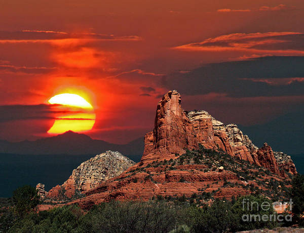 Photograph - Partial Solar Eclipse Sedona-arizona by Babak Tafreshi