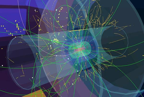 Subatomic Particle Photograph - Particle Collisions by Cern/science Photo Library