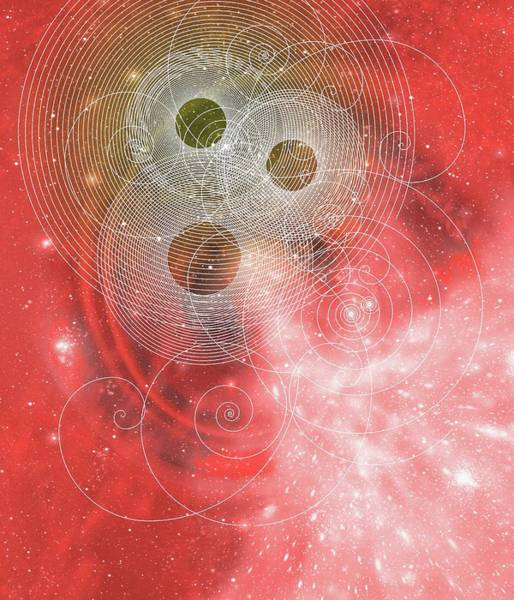 Subatomic Particle Photograph - Particle Tracks On A Nebula by Mehau Kulyk/science Photo Library