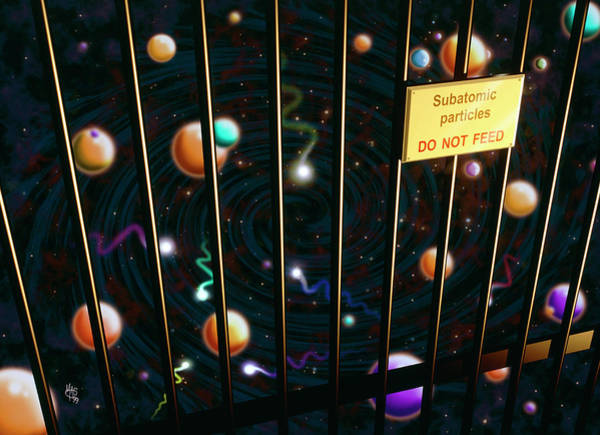 Subatomic Particle Photograph - Particle Zoo by Mark Garlick/science Photo Library
