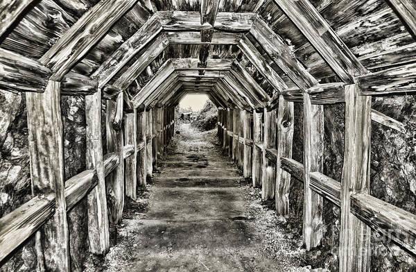Photograph - Partington Cove Tunnel By Diana Sainz by Diana Raquel Sainz