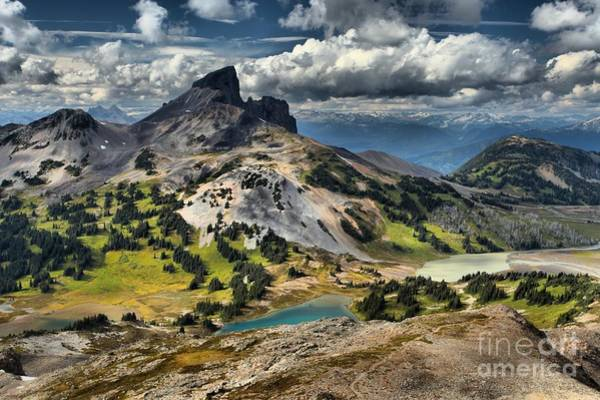 Photograph - Partly Cloudy Over Black Tusk by Adam Jewell
