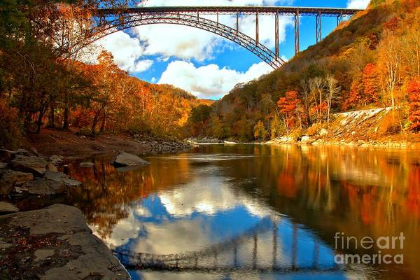 Photograph - Partly Cloudy Over The New River by Adam Jewell