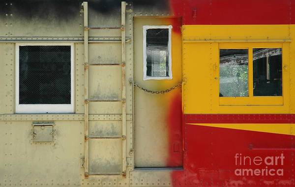 Railroad Car Photograph - Partly Painted by Dan Holm