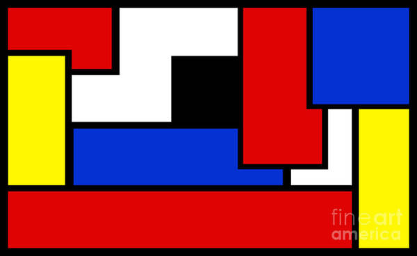 Digital Art - Partridge Family Abstract 1 B by Andee Design