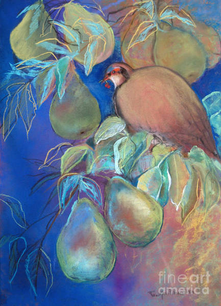 Pastel - Partridge In Pear Tree by Robin Maria Pedrero