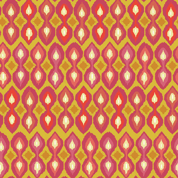 Graphics Drawing - Party Boardwalk Ikat by MGL Meiklejohn Graphics Licensing