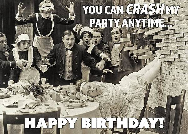 Wall Art - Photograph - Party Crasher Greeting Card by Communique Cards