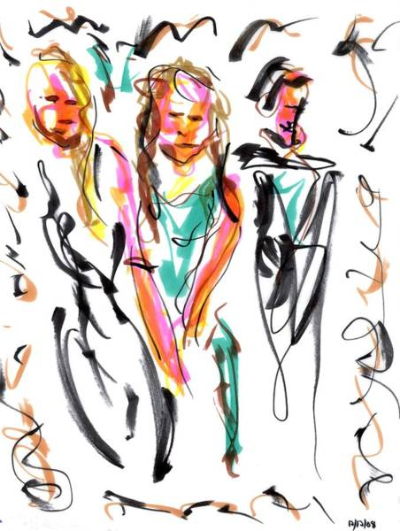 Drawing - Party I by Rachel Scott