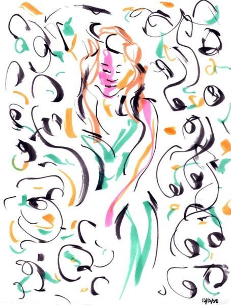 Drawing - Party II by Rachel Scott