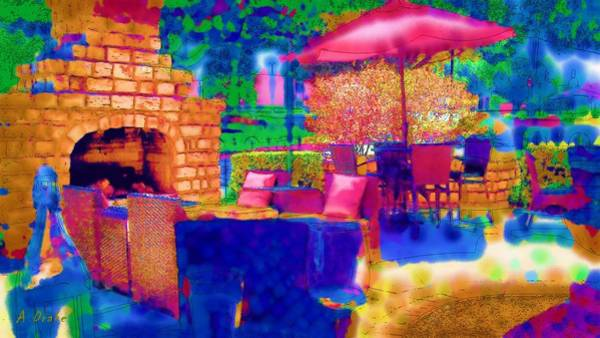 Digital Art - Party Patio by Alec Drake