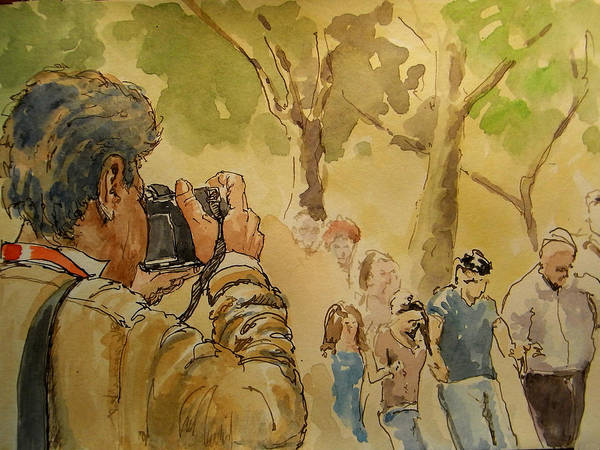 Celebration Painting - Party Photographer by Juan  Bosco