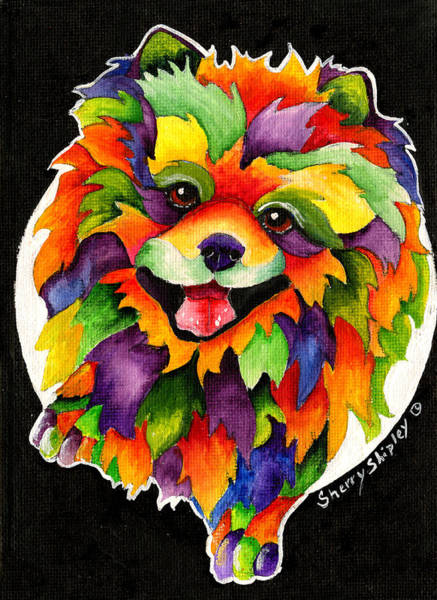 Painting - Party Pom by Sherry Shipley