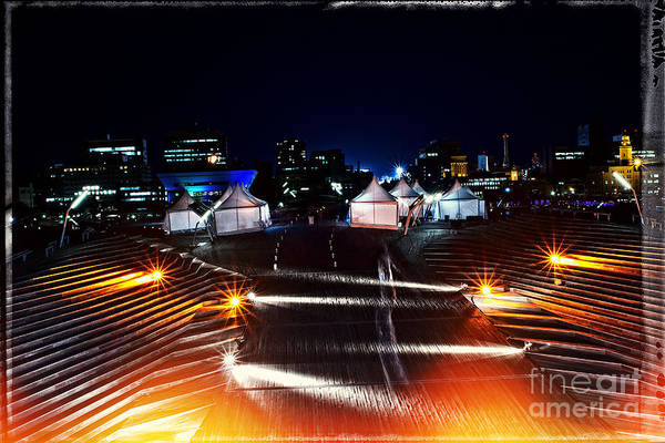 Photograph - Party Tents At The Pier by Beverly Claire Kaiya