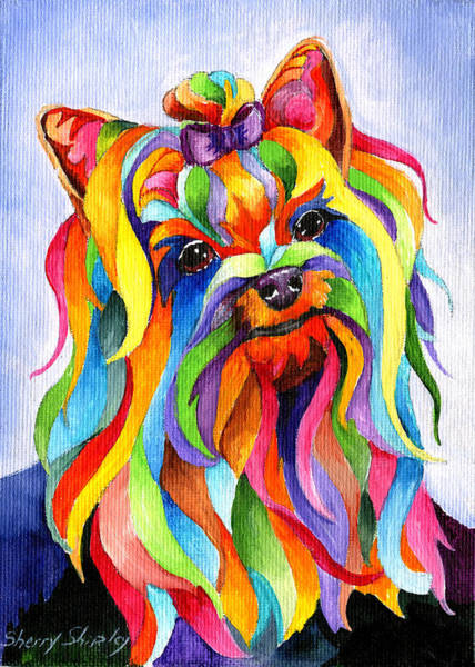 Painting - Party Yorky by Sherry Shipley