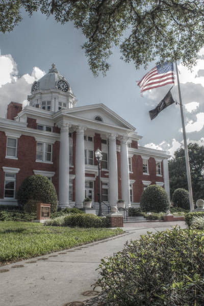 Wall Art - Photograph - Pasco Co. Courthouse by Howard Markel