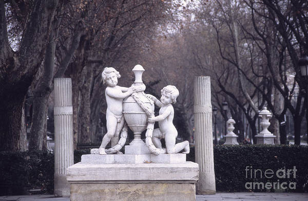 Prado Photograph - Paseo Del Prado In Winter Madrid by James Brunker
