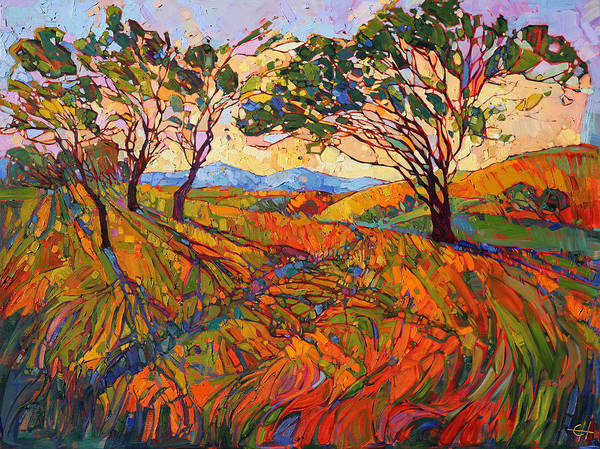Wall Art - Painting - Paso Mosaic by Erin Hanson