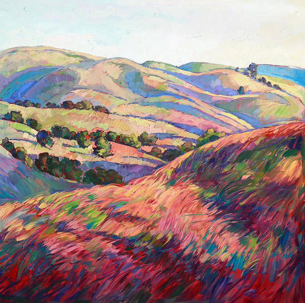 Wall Art - Painting - Pasoscapes Diptych Right Panel by Erin Hanson