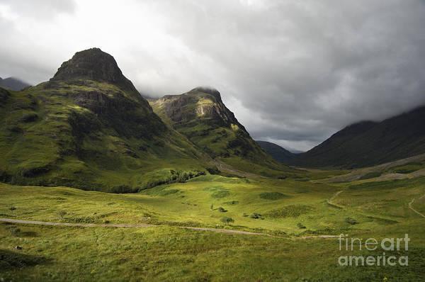 Bidean Nam Bian Photograph - Pass Of Glencoe - D002455 by Daniel Dempster