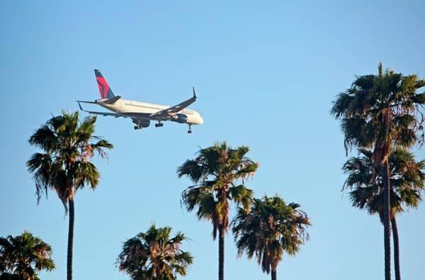 Lax Photograph - Passenger Jet Airliner Landing by Jim West