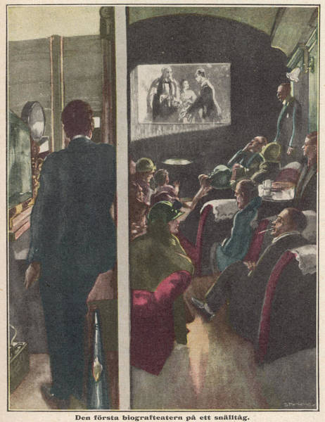 1924 Drawing - Passengers On The 'flying  Scotsman' by Mary Evans Picture Library