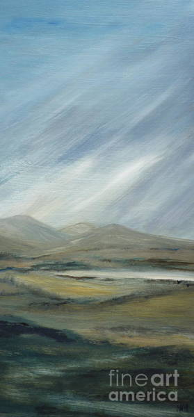 Windermere Painting - Passing Clouds by Hazel Millington