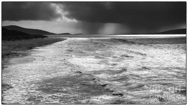 Passing Storm Luskentyre Art Print by George Hodlin