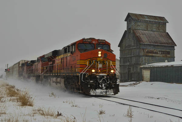 Wall Art - Photograph - Passing The Grain Elevator by Ken Smith