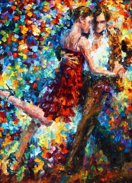 Dancing Men Painting - Passion Dancing by Leonid Afremov