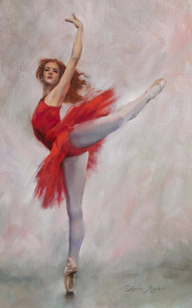 Dancers Wall Art - Painting - Passion In Red by Anna Rose Bain
