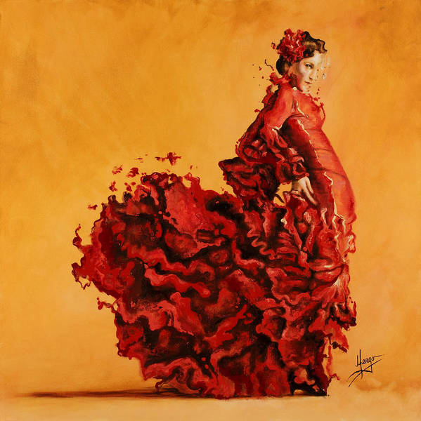 Fire Dance Wall Art - Painting - Passion by Karina Llergo
