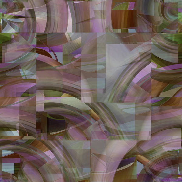 Digital Art - Lavender Fields - Fine Art Digital Abstract by rd Erickson