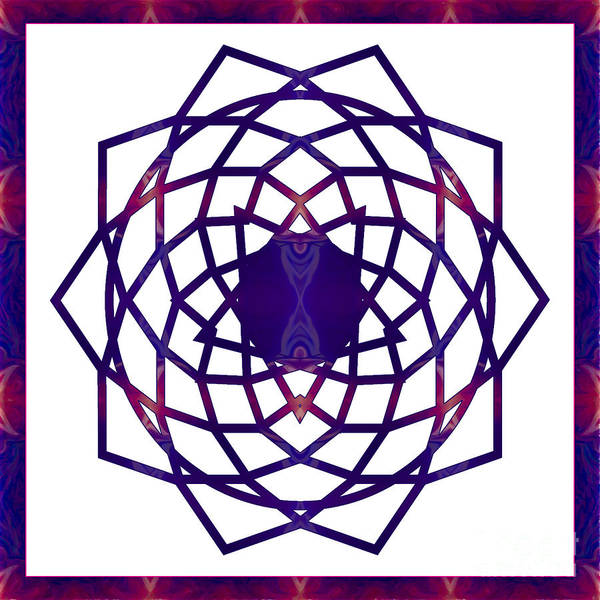 Digital Art - Passionate Purple Prayers Abstract Chakra Art By Omaste Witkowsk by Omaste Witkowski