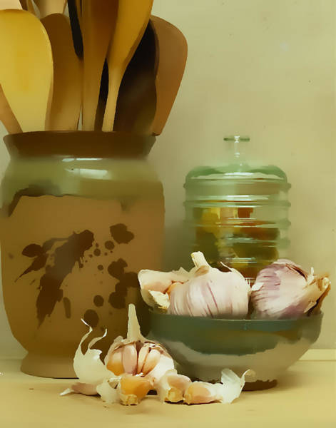 Wooden Spoon Digital Art - Pasta Jar I by Ken Evans