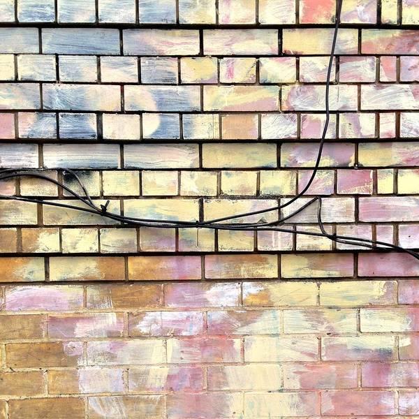 Wall Art - Photograph - Pastel Brick Wall by Julie Gebhardt