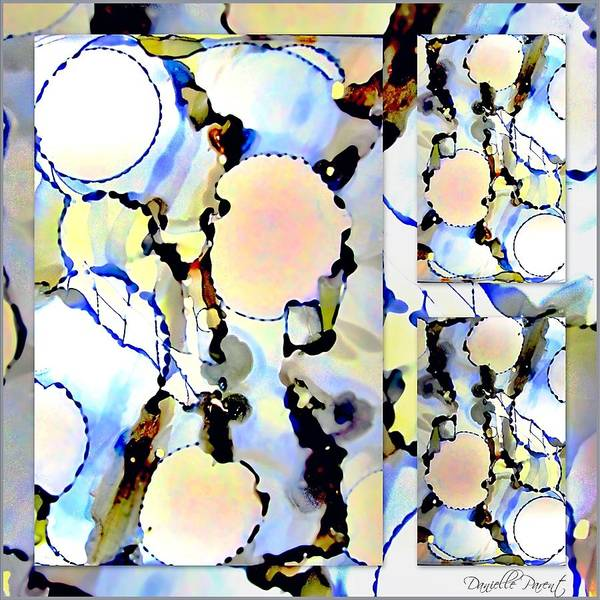 Painting - Pastel Bubbles Abstract  Alcohol Inks by Danielle  Parent