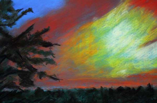 Central Texas Painting - Pastel Johnson City Sunset by Donna Crosby
